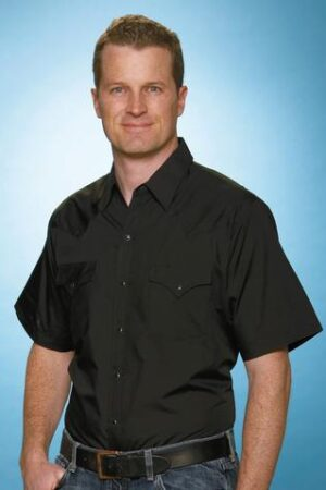 Ely & Walker Black Short Sleeve Shirt