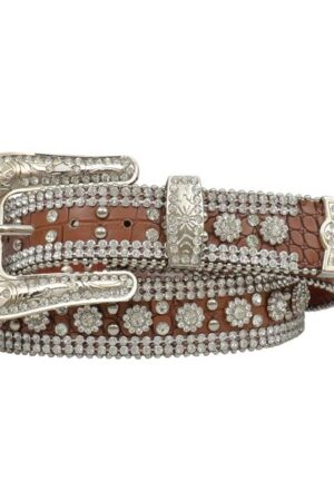 3-D Angel Ranch Brown Gator Belt (Closeup)