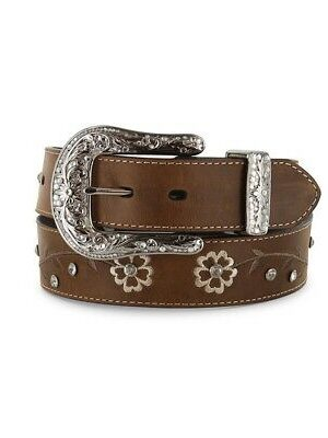 Ariat Brown Scrolling Flowers Belt