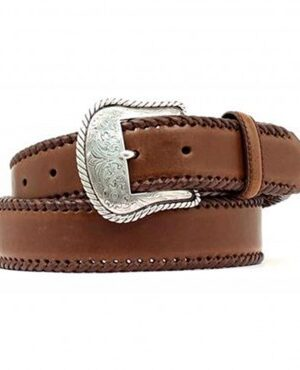 M&F Nocona Brown Lace Edge Belt