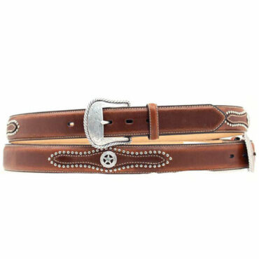 M&F Nocona Brown Star Concho Belt