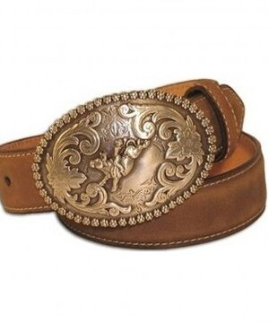 M&F Kids Nocona Brown Bullrider Buckle Belt