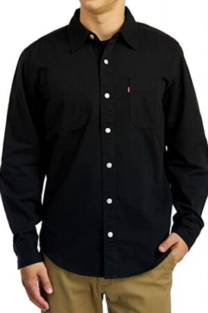 Levi Men's Classic Black Work Shirt