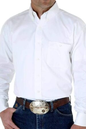 Wrangler George Strait Collection White Long Sleeve Shirt