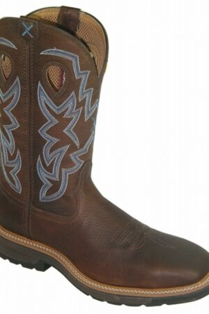 Twisted X Men's Lite Cowboy Brown Pebble Work Boots