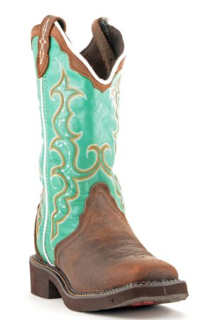 Justin Women's Brown Cowhide Gypsy Boots L2904 FRONT