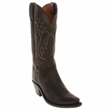 Luccheses Women's Anthractie Madras Goat Boots M5001.S54 FRONT