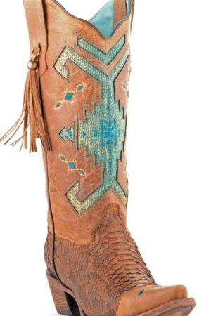 Corral Python Tribal Pattern Boots