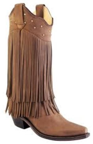 Old West Fringe Cowgirl Boots