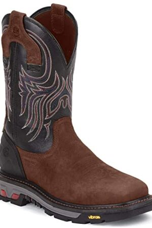 Justin Tanker Black Steel Work Boot
