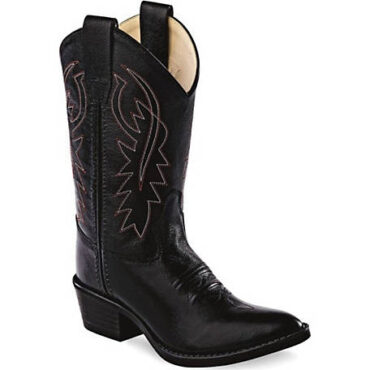 Old West Black Youth Boots