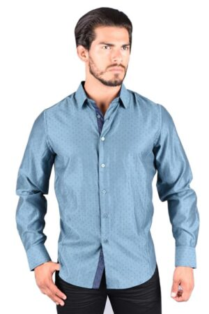 Platini Long Sleeve Light Blue Shirt