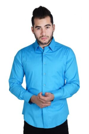 Platini Long Sleeve Blue Shirt