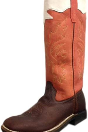 Old West Stove Boy's Pipe Boots (Size 8.5-3)