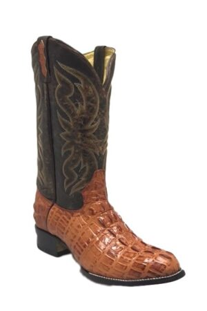 Boot Jack Men's Cognac Alligator Print Western Boots