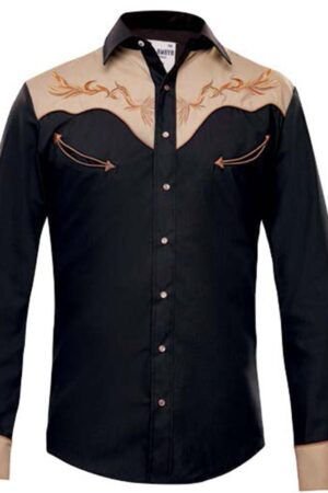 Rafael Amaya Black Long Sleeve Snap Shirt