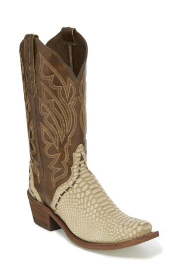 Nocona Ladies Khaki Snake Print Boot