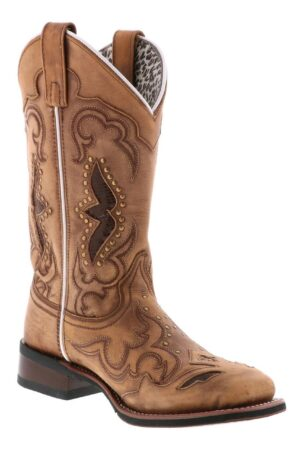 Laredo Women's Tan Spellbound Square Toe Boots