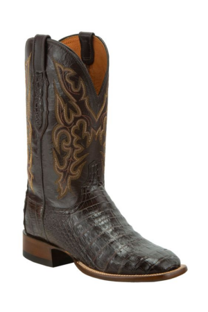 Lucchese Horseman Chocolate Caiman Limited Release Boot