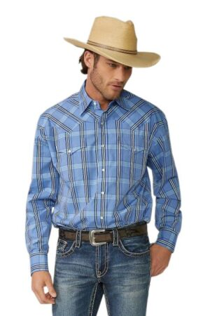 Stetson Men's Cold Spring Plaid Long Sleeve Snap Shirt