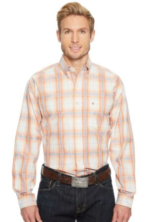 Stetson Western Classic Orange Button Shirt