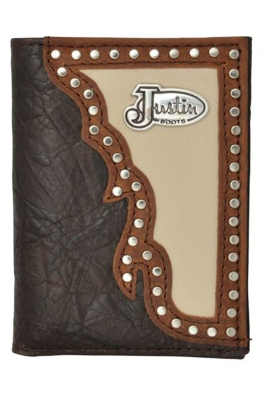 Justin Brown Western Trifold Wallet