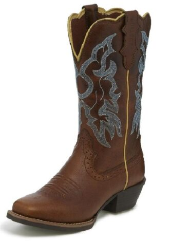 Justin Women's Durant Light Brown Buff Western Boots