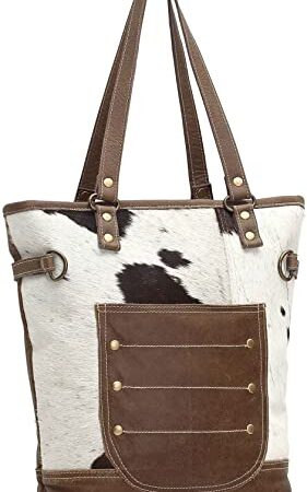 Combined Leather & Hair-On Tote Bag