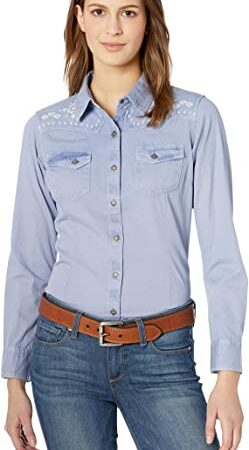 Ariat Ladies Long Sleeve Button Down Western Shirt