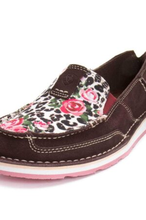 Ariat Womens' Leopard & Roses Cruiser Shoes