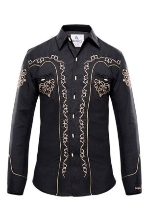Ranger's Men's Black Vaquero Shirt