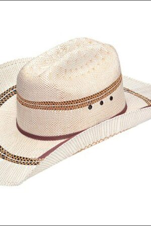 M&F Men's Two-Tone Bangora Straw Cowboy Hat
