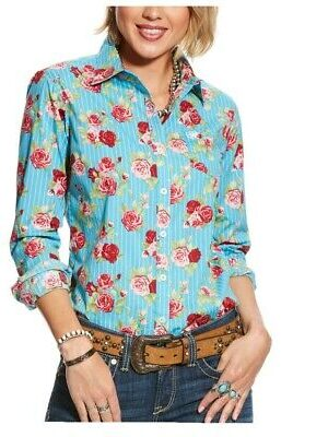 Ariat Women's REAL Kirby Stretch Fitted Button-Down Shirt
