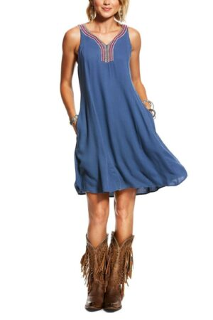 Ariat Ladies Chambray Just Us Sleeveless Dress