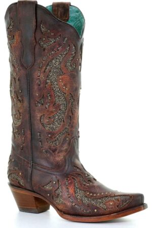 Corral Distressed Leather Western Boots