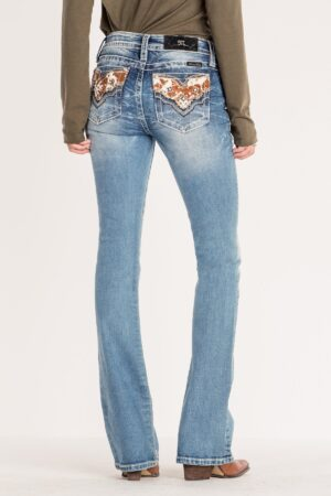 Miss Me Step To It Mid-Rise Boot Cut Jeans