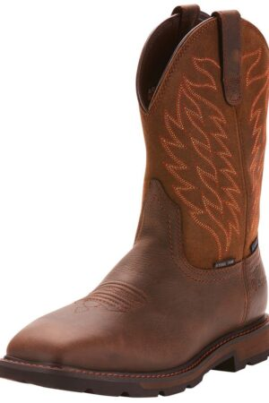 Ariat Groundbreaker 10in Waterproof Wide Square Steel Toe Wellington Boots