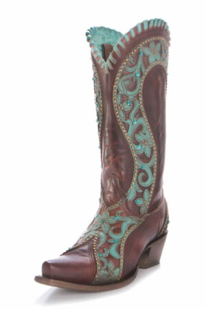 Corral Brown/Turquoise Boots