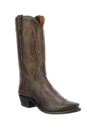 "Lucchese Men's Chocolate ""Mad Dog"" Cowboy Boots"