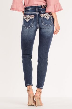 Miss Me Plaid About It Ankle Skinny Jeans