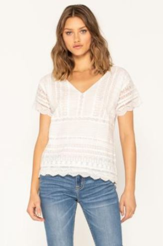 Miss Me Lace Lover Short Sleeve Top