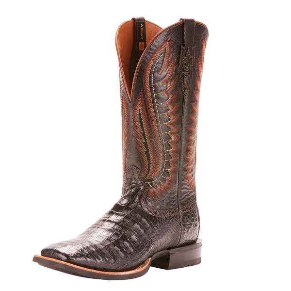 Ariat Double Down 13in Caiman Gator Belly Performance Horseman Boots