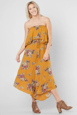 Angie Floral Print Sleeveless Jumpsuit