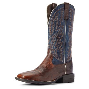 Ariat Men's Dynamic Brown Patina/Blue Dusk Western Boots