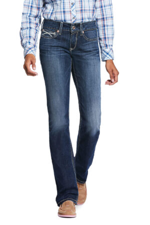Ariat R.E.A.L. Mid Rise Stretch Brianne Stackable Straight Leg Jeans