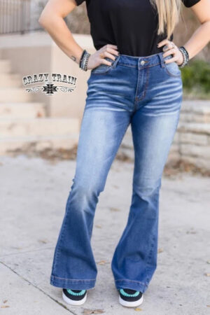 Crazy Train Jeanie in a Bottle Denim Trouser Jeans
