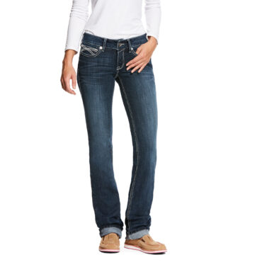 Ariat Women's R.E.A.L. Low Rise Stretch Kylie Stackable Straight Leg Jean
