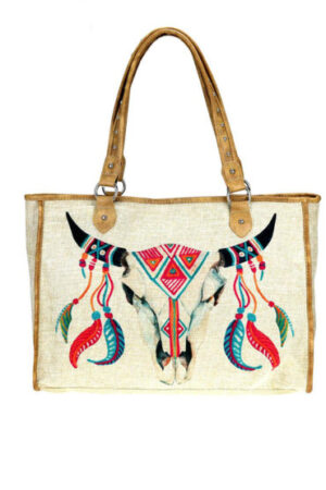 Montana West Native American Collection Canvas Tote Bag