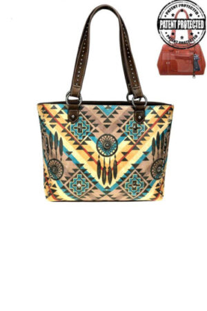 Montana West Aztec Collection Concealed Carry Tote