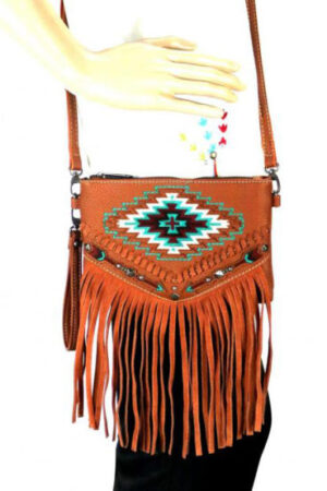 Montana West Fringe Wristlet Crossbody Bag